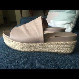 Franco Sarto Nude Platform Sandals (8)